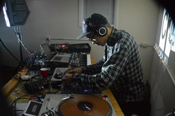 *hitmayng taking over the DJ table. Photo: Joe Poschung