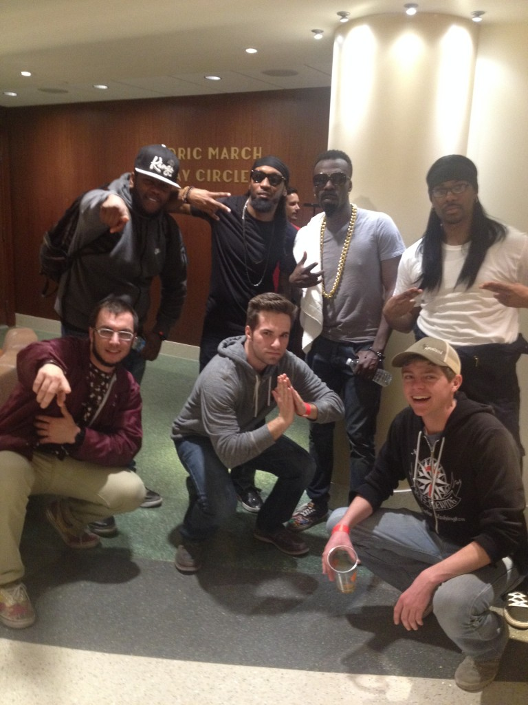 With Turquoise Jeep at the Play Circle Theater in Memorial Union